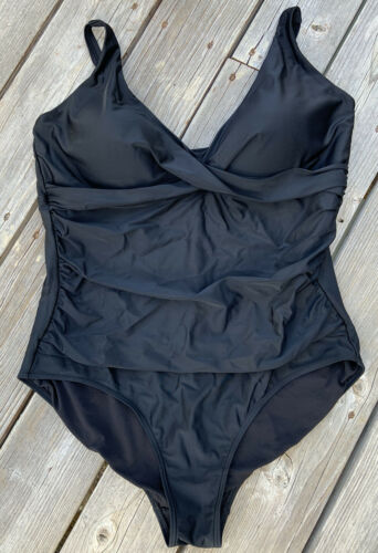 Swimsuits For All Women's Plus Size 22 Black One P