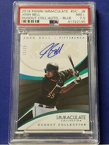 Josh-Bell-2018-Panini-Immaculate-Dugout-Collection-Autograph-PSA-7-5-13-25