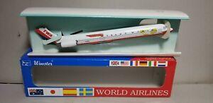 WOOSTER-W637-TWA-034-WINGS-OF-PRIDE-034-MD-80-1-200-SCALE-PLASTIC-SNAPFIT-MODEL