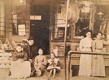 Antique c1920 Family Grocery Store Postcard Album Display RPPC Photo