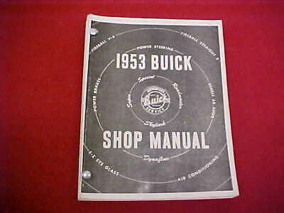 1953 Buick Service Shop Repair Manual Book 53 W Wiring Diagrams Fireball Super Ebay