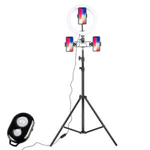 """Selfie 10"""" Ring Light with Adjustable Tripod Stand & Phone Holder for Makeup"""