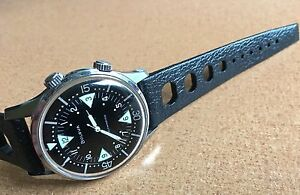 Vintage-22mm-Swiss-Made-perforated-rubber-vintage-watch-band-NOS-1960-70s-8-sold