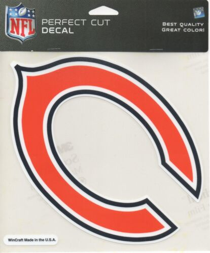 """Perfect Cut Decal New C logo  Sticker NFL 9/"""" Chicago Bears"""