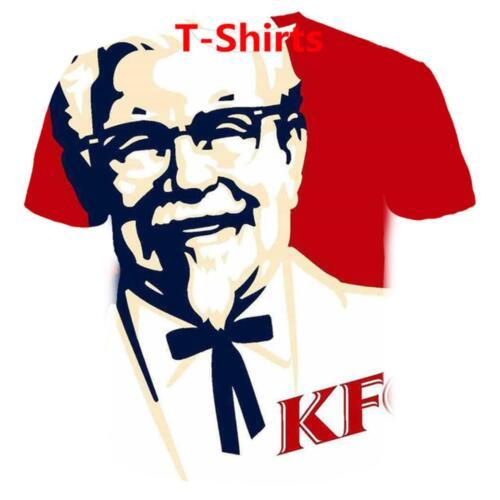 7XL New KFC Funny T-shirt /& Sweatshirt Red Full Print Men Women Fashion Size S