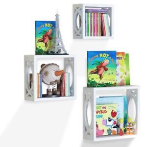 children s square cube wall shelves set 3 pcs display kids rh ebay com