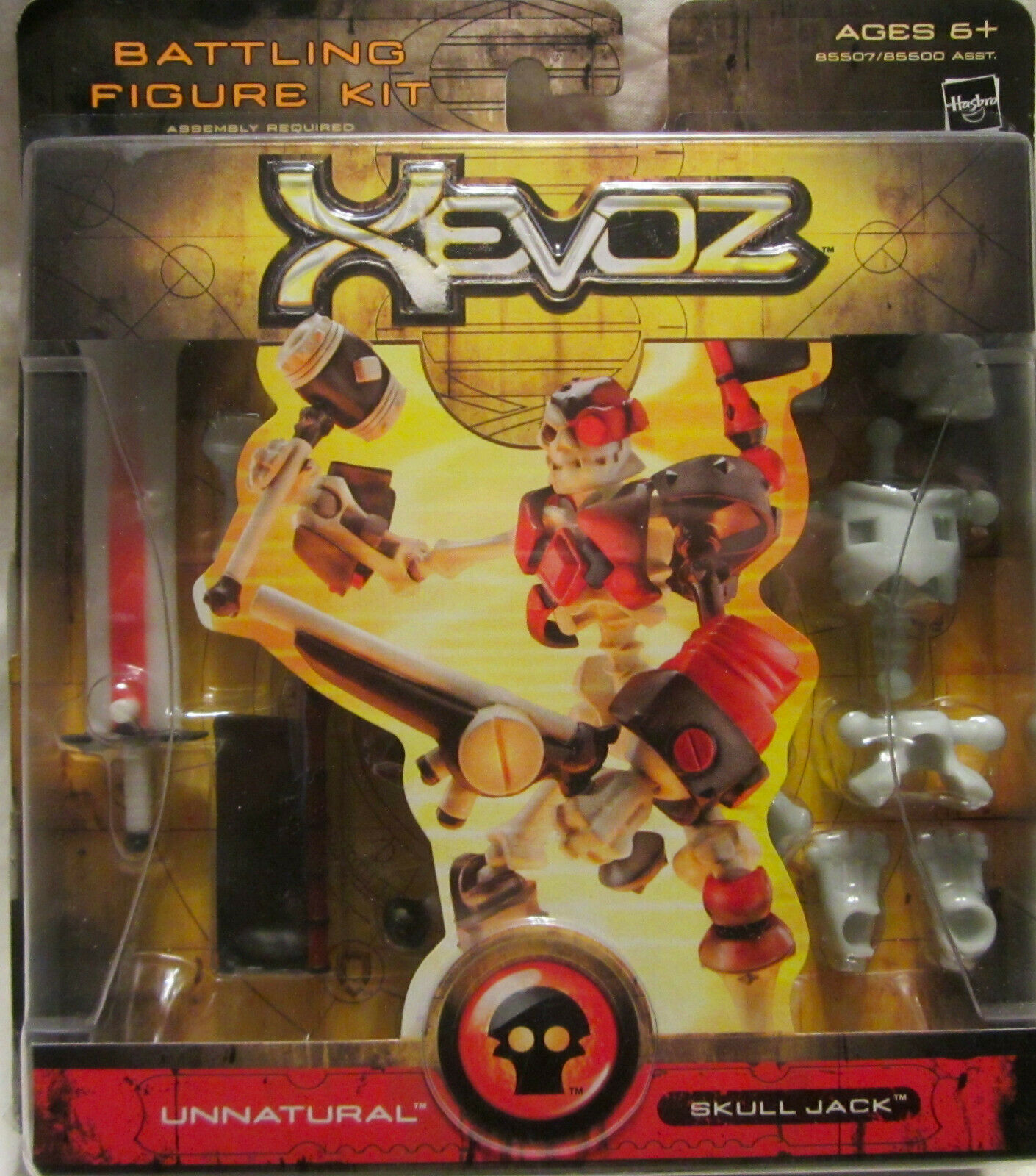 Xevoz Battling cifra Kit Unnatural  Skull Jack Hasbro  nuovo