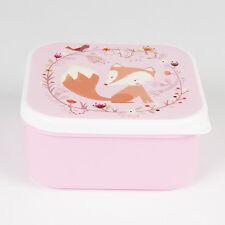 Sass and Belle QUADRATO BOSCHI Fox Bento Snack Box Pranzo Scuola Picnic Nuova