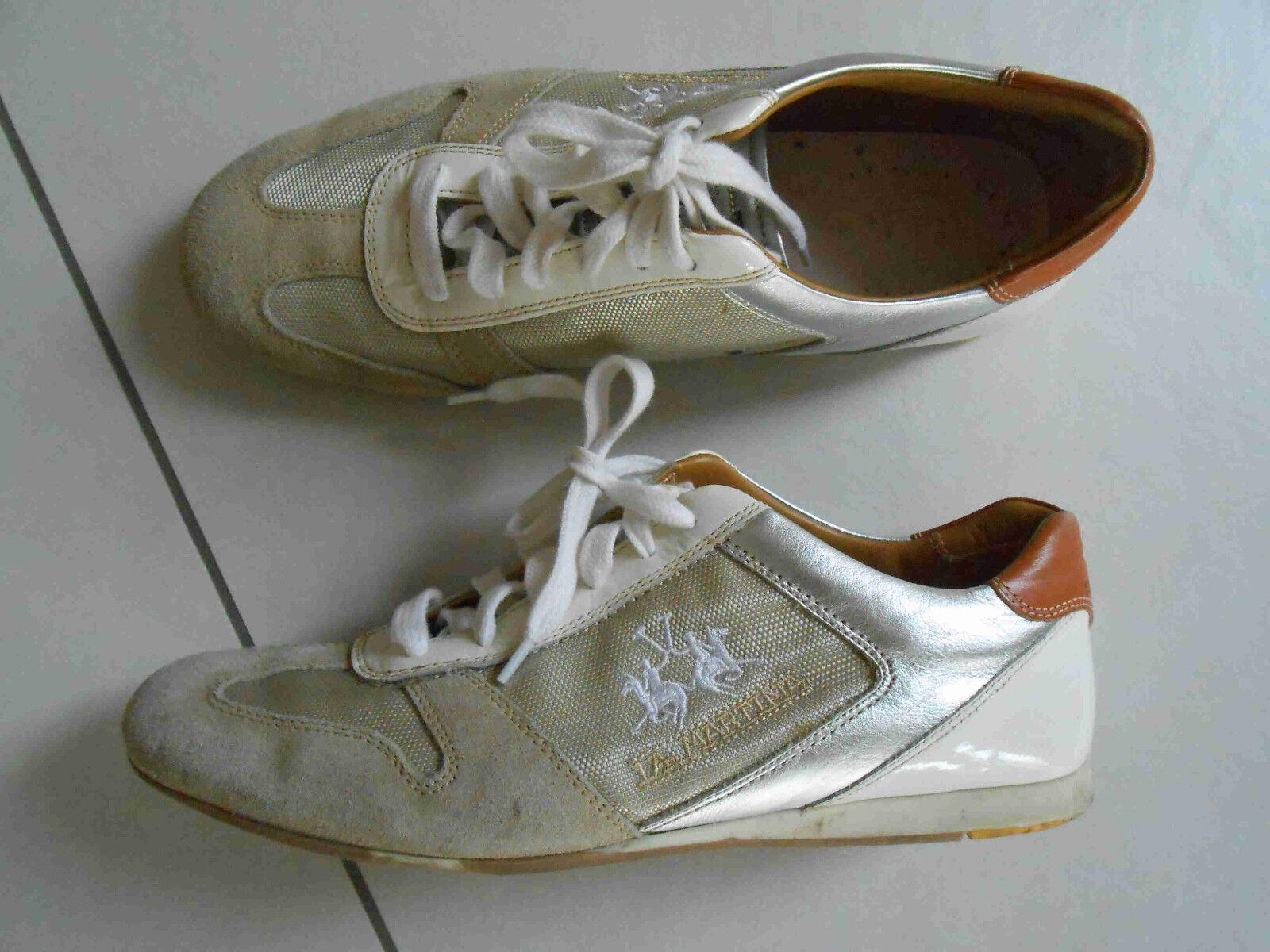 La Martina Sneaker Schuhe 38 Polo Sportschuhe 2x getragen NEUwertig NP