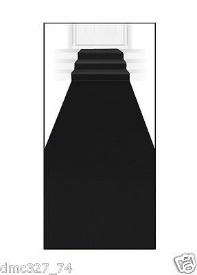 HOLLYWOOD Awards Roaring 20s Halloween Party Prop BLACK Floor RUNNER 2 ft x 15ft