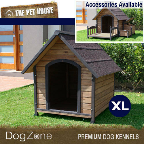 NEW Brunswick Extra Large A-Frame Wooden Dog House Wood Timber XL Kennel