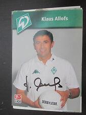 15165 Klaus Allofs DFB Nationalspieler original signierte Autogrammkarte
