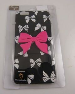 fits-iPhone-6-cel-phone-case-black-white-and-pink-bows