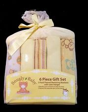 SNUGLY BABY Unisex Flannel Receiving Blankets 6 piece Gift Set New