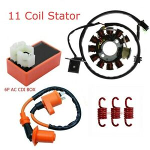 11-Coil-Magneto-Stator-Ignition-Coil-CDI-Spring-GY6-125cc-150cc-Scooter-Moped