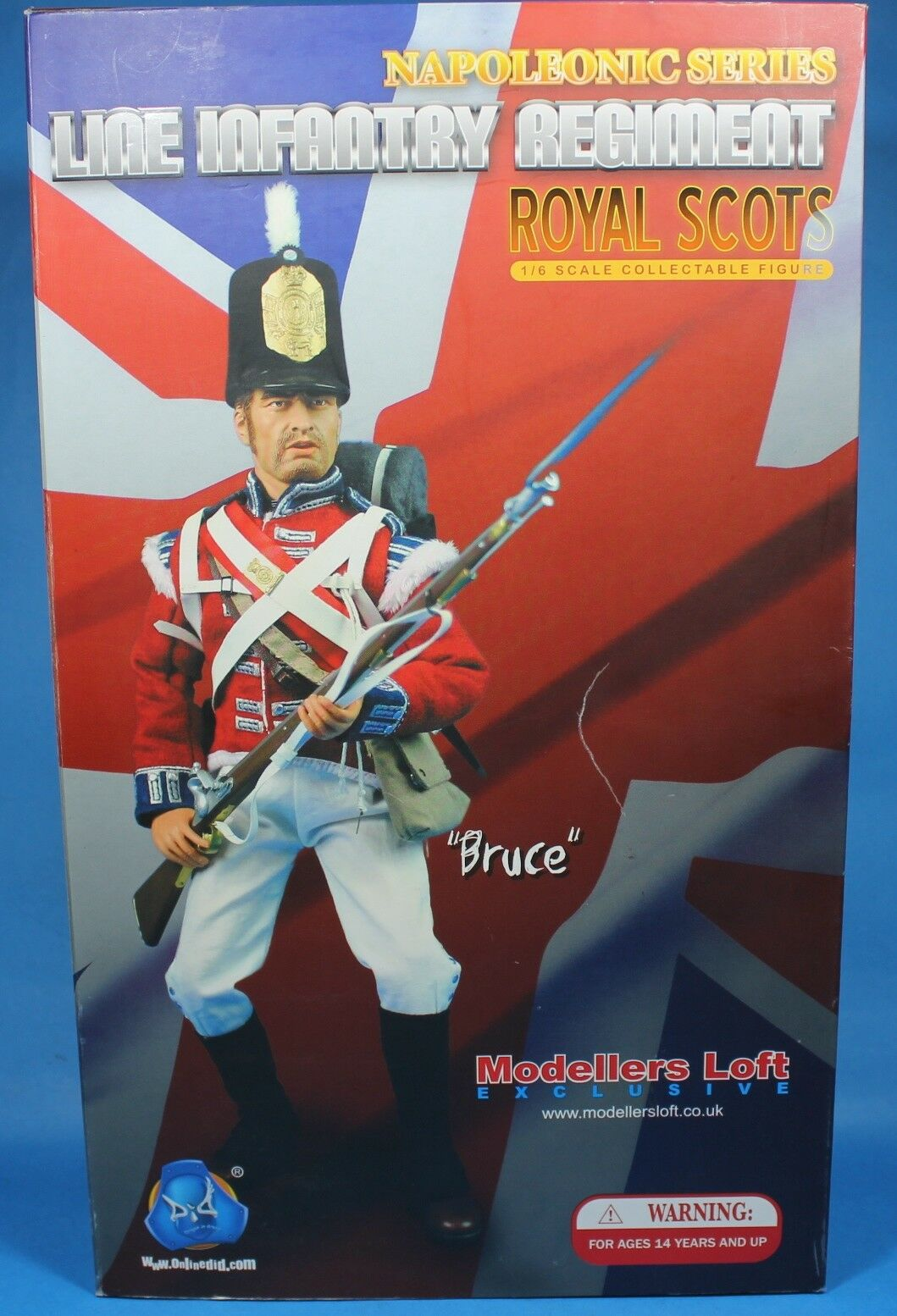 Line infantry Regemänt Bruce Royal Scots Napoleons Action Figur 1 6 DID drake