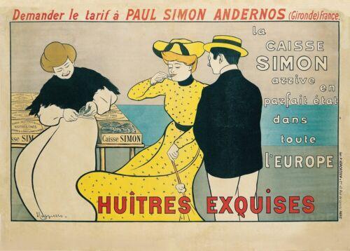 Equisite Oysters 1901 Art Deco Poster LEONETTO CAPPIELLO