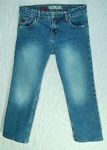 Distressed-LOW-Straight-Leg-PARIS-BLUES-Stretch-Denim-SOULMATE-Capri-Jeans-3