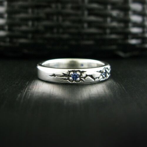Details about  /STERLINGWORTH  Meteor-P Blue sapphire mensring 925silver silverring couplering