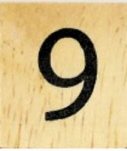 25 CENTS PER TILE SYMBOL AMPERSAND /& INDIVIDUAL WOOD SCRABBLE TILES