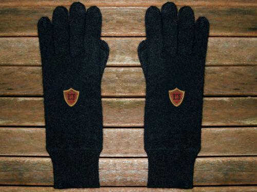 Luxe Oh `Dor 100/% Kaschmir Cashmere Handschuhe schwarz Emblem S//M//L UK 7-11