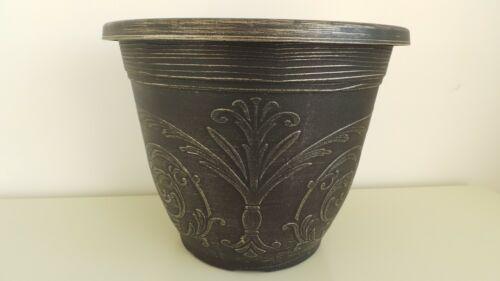 COPPIA di buona qualità decorative Regal Motivo Vasi di Plastica fioriere Champagne
