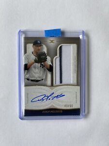 2021 Topps Definitive Baseball Andy Pettite On Card Auto Pinstripe Patch 43/50