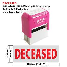 Deceased Jyp 4911r Self Inking Rubber Stamp Red Ink
