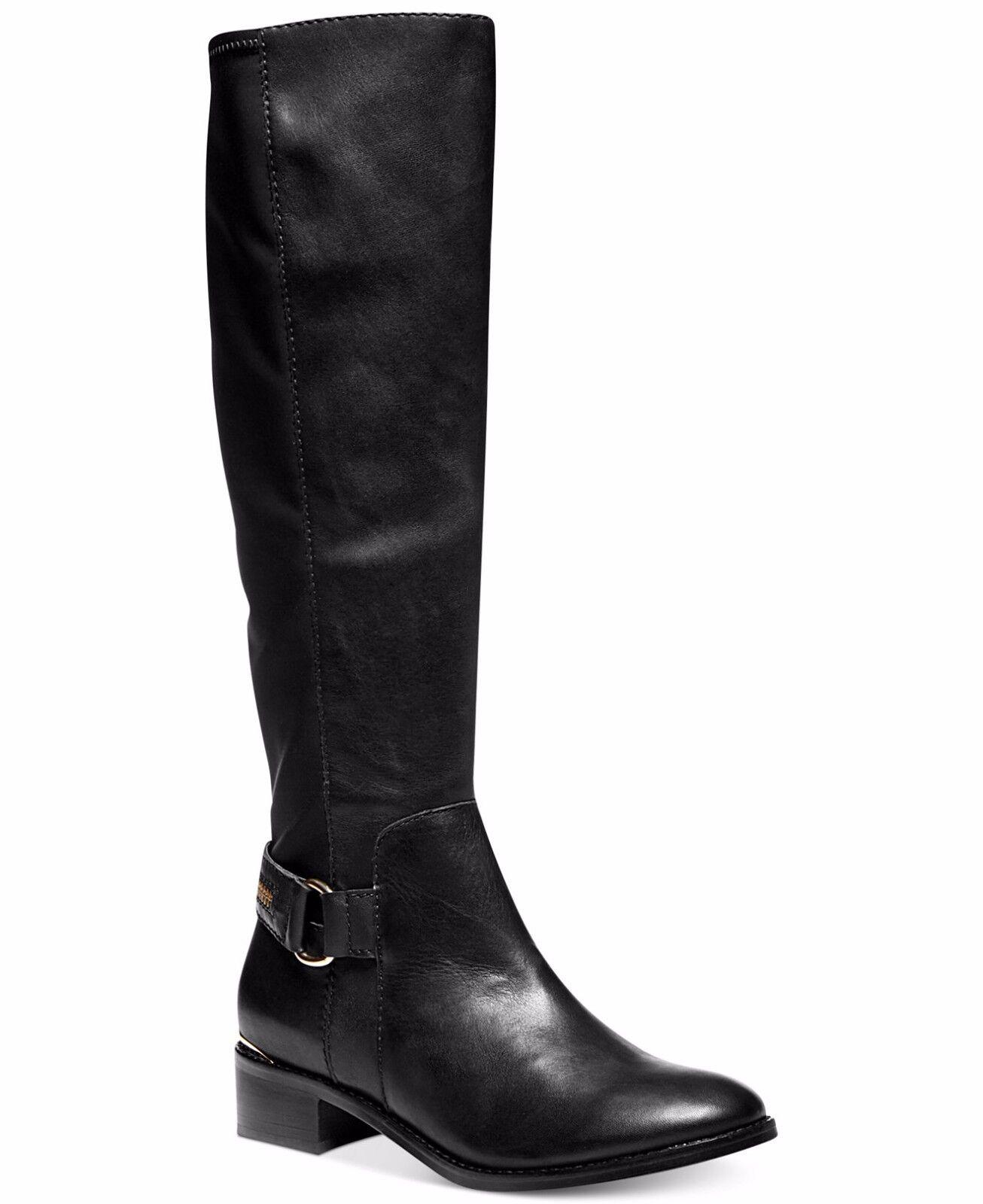 100% di contro garanzia genuina Steve Madden Madden Madden Ryperr nero Leather Fashion Knee-Hi avvio w Zipper Detail, 6M,  169  Garanzia del prezzo al 100%