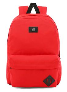 Vans School Bag Old Skool II Backpack Red Racing Casual Travel Rucksack Skate