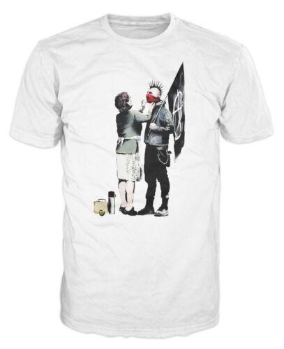Banksy Punk Mom Funny Smart Urban Art Fashion Hipster T-shirt