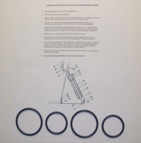 Ring Siegel Set mit Anleitungen /% 2 Bennett Trim Tab Stellantrieb O