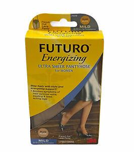 Futuro Ultra Sheer Pantyhose Women Nude French Cut Large Beige