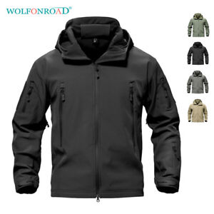 Mens-Jackets-Military-Softshell-Fleece-Lining-Outwear-Army-Jackets-Hoodie-Coats