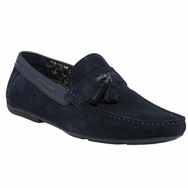 New Mens SOLE bluee Gaskin Suede shoes Driving Slip On