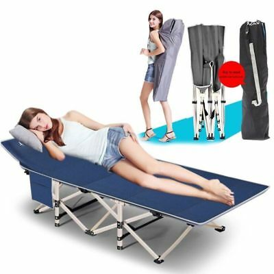 Portable Folding Bed Stable Camping Cot Outdoor Travel Sleeping+Mattress /& Bag