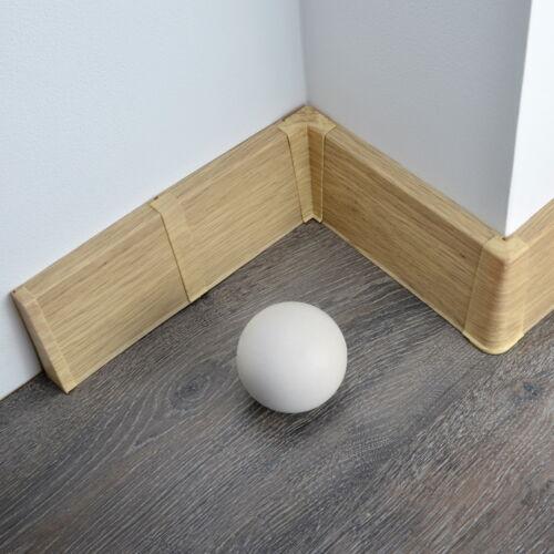 75mm x 19mm PVC floor-wall w. FREE screws 2.5m SKIRTING BOARD /& ACCESSORIES
