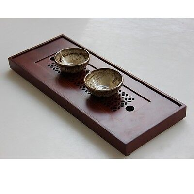New Bamboo Gongfu Tea Tray Chinese Serving Table 38*15*2.8cm Small Size Quality