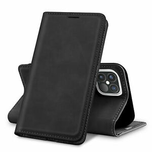For Apple iPhone 12 Pro Max Case Magnetic Flip Leather ...