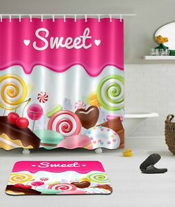 Image Is Loading Candy Shower Curtain Bathroom Waterproof 100 Polyester Extra
