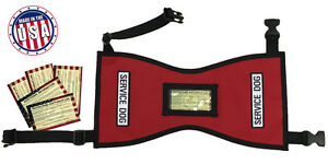 Quick-Ship-Service-Dog-Vest-w-FREE-patches-amp-5-FREE-Info-Cards-In-Clear-Pocket
