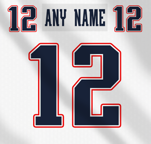 promo code c6aef 0ca8e Details about New England Patriots NFL White Football Jersey Any Name Any  Number Lettering Kit