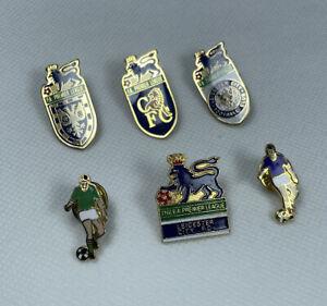 FA Premier League Leicester City & Chelsea Football Pin Badges Bundle Set x6 VGC