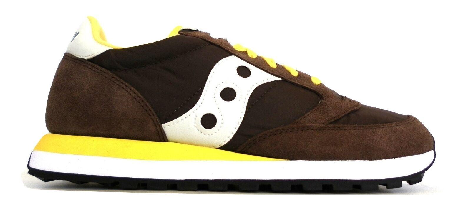 SAUCONY scarpe scarpe da ginnastica uomo JAZZ ORIGINAL S2044-416 Marroneeee e giallo