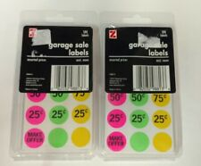 2 Pack Advantus Self Adhesive Garage Sale Labels Assorted Prices 360 Labels