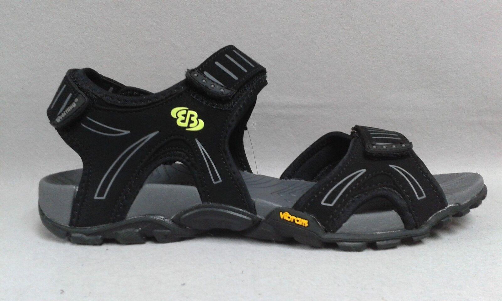 Brütting Sandale schwarz Klettverschluß Fußbett Trekking Outdoor Vibram 0119 3