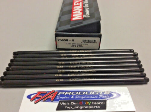 """Manley 25850-8 Swedged End 8.500/"""" Long .080/"""" Wall 3//8/"""" 4130 Set Of 8 Push Rods"""