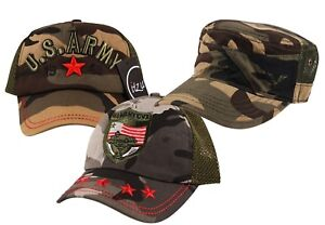 d750ebce Image is loading YOUTH-US-Army-Military-Camouflage-Mesh-Trucker-Cadet-