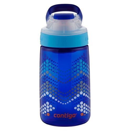 Contigo AUTOSEAL Gizmo Sip Kids Water Bottle 14oz Sapphire Blue Chevron No-Spill