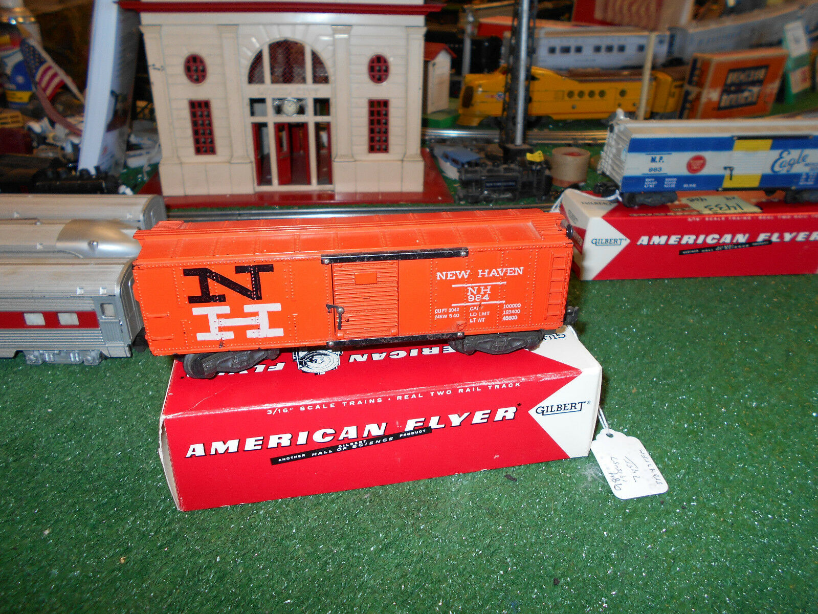 AMERICAN FLYER 984 NEW HAVEN BOX CAR ORIG EXC + COND 1956-57 GREAT GRAPHICS